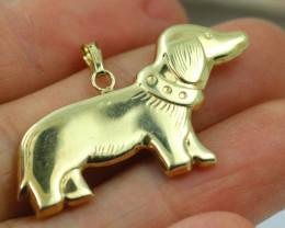 1.55 Grams 18 K Hollow Gold Pendant [T45]