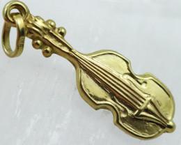 1.003 Grams 9 K Violin Gold Pendant [T46 ]