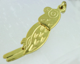1.761 Grams 18 K Parrot Gold Pendant,Head moves  [T47]