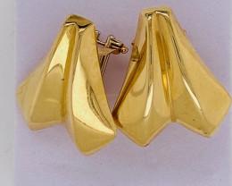 6.518 Grams 18 K Gold Earrings ,French clip   L 628