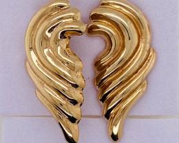 3.145 Grams 18 K Gold Italian Earrings   L 627