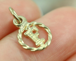 0.727 Grams 9 K  -  F Gold Pendant [T66]