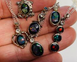 Parcel 6 Aussie opal pendants NA 501