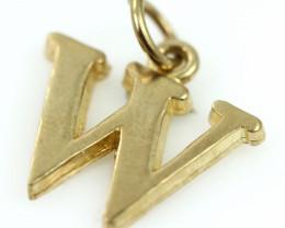 1.043 Grams 9 K  - W  Gold Pendant [T69]