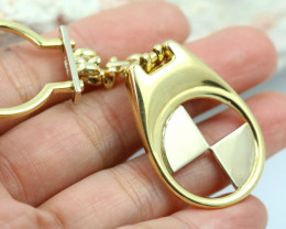 14.319 Grams 18 K BMW Gold Keychain [T72]