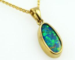 18k gold Aussie Boulder Opal Pendant  code T76