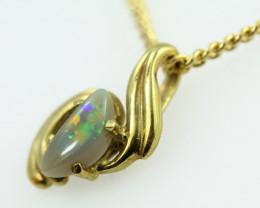 18k gold Aussie Opal Pendant  code T75