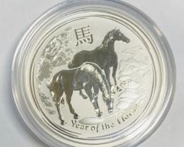 Half Ounce 99.9% Pure Silver Horse 2014 Perth Mint