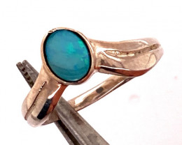 Cute Opal Doublet sterling silver Ring size N code  NA 511