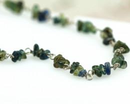 Cute sapphire rough in silver braceletc code NA 551
