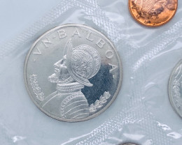 Sealed 1966 PANAMA Large Silver CONQUISTADOR BALBOA Genuine Proof 6 Coin Se