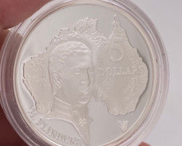 Rare 1993 Explorers proof silver coin M.Flinders   code NA 562