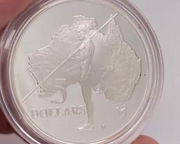 Rare 1993 Explorers proof silver coin Aboriginal    code NA 563