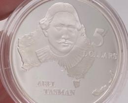 Rare 1993 Explorers proof silver coin Abel Tasman   code NA 556
