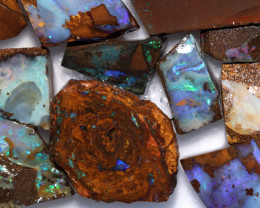 Cts  Slice 20   pcs  Boulder opal rough Rub  CH 655