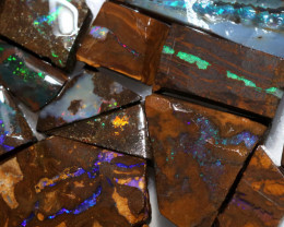 550Cts  Slice  20  pcs  Boulder opal rough Rub  CH 657