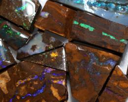 550Cts  Slice  20  pcs  Boulder opal rough Rub  CH 657