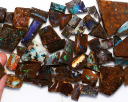 880 Cts  Slice 50    pcs  Boulder opal rough Rub  CH 658