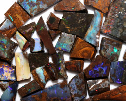 900 Cts  Slice  50 pcs  Boulder opal rough Rub  CH 660
