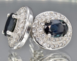 Natural dark blue Sapphires  in silver NA 582