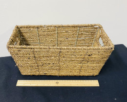 Xmas Hamper Strong Storage  Water Hyacinth  Reed Basket   code WILBWAT
