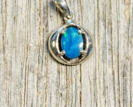 Cute Opal doublet Opal Silver Pendant NA 635