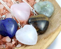 Promotional Five Lovers Heart Shape Gemstone Pendants   NA 660