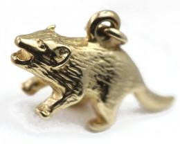 3.433 Grams 9 K Gold Pendant [T75]
