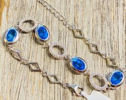 Bight london blue topaz silver bracelet JGC 208