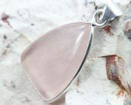 Cabochon Rose Quartz Silver Pendant NA 761