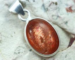 Cabochon Sunstone Silver Pendant NA 754