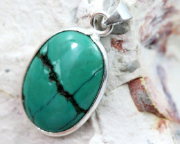 Cabochon Turquoise Silver Pendant NA 767