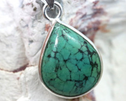 Cabochon Turquoise Silver Pendant NA 769