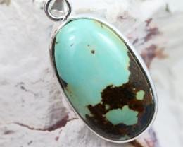 Cabochon Turquoise Silver Pendant NA 770