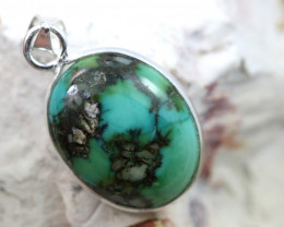 Cabochon Turquoise Silver Pendant NA 772