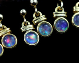 4 x Gem Opal Triplet set in Gold Plate drop swing Earring GJC 239