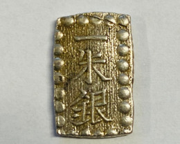 1854 Silver Kaei.Ansei.Sshugin Era Japan bar coin  code ccc 100