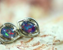 Gem Opal triplet Silver Earrings   NA 815