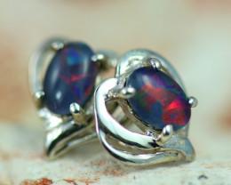 Gem Opal triplet Silver Earrings   NA 818
