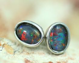 Gem Opal triplet Silver Earrings   NA 819