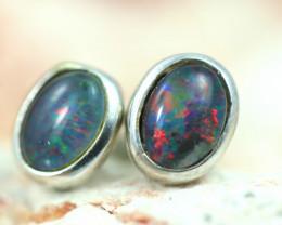 Gem Opal triplet Silver Earrings   NA 820