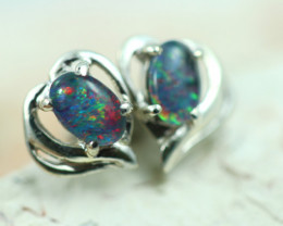 Gem Opal triplet Silver Earrings   NA 821