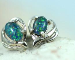 Gem Opal triplet Silver Earrings   NA 822