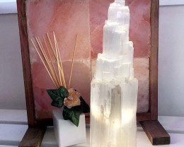 35-40cm Selenite Tower Lamp