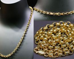 16.481  Grams 9K Gold Rolo Chain 45 cm length L 367