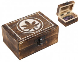 Treasures Mango Wood Leaf  jewellery Box   code  BOXLEAF