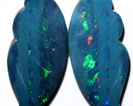 17.5 Cts  Opal Doublet pair Opals code CCC 107