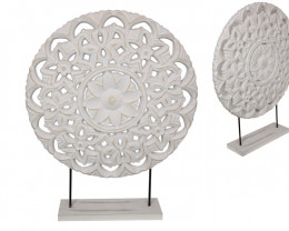 Treasures Four Large PCs White Flower decor pattern on stand  code WHIDECMS