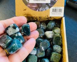 Treasures Box of 50 Tumbled Agate Stones code  TUMINDAG