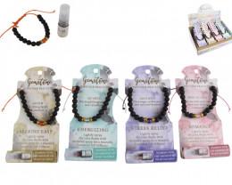 Treasures 24 pc Essential Oil Diffuser Gemstone Bracelets code  ESSGEMBR